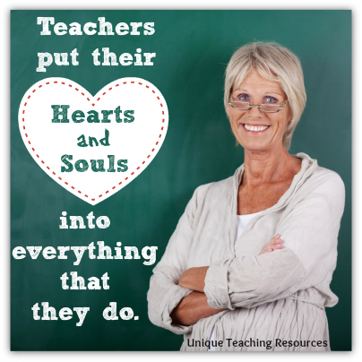 Teacher Appreciation Heart and Soul Quote