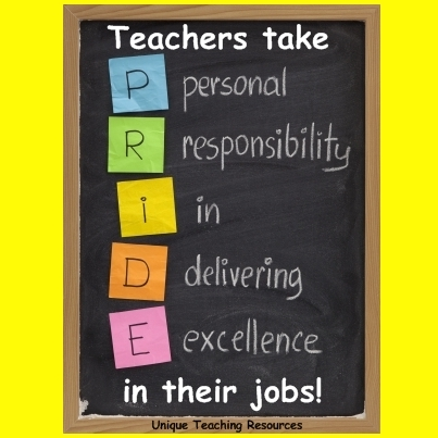Teachers take pride in their jobs.