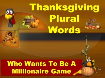 Thanksgiving Singular and Plural Words Powerpoint