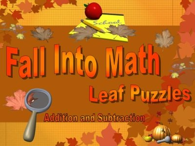 Thanksgiving Fall Into Math Powerpoint Presentation