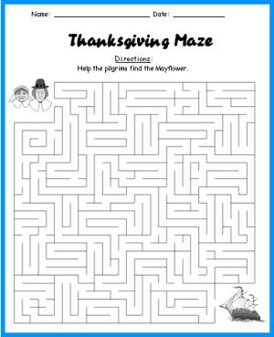 Thanksgiving Puzzle Maze