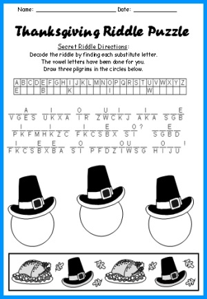 Thanksgiving Puzzle Riddle