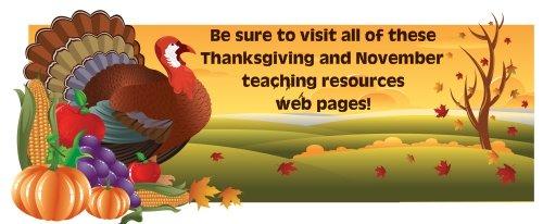 Thanksgiving Lesson Plans for Elementary School Teachers