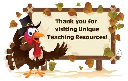 Thanksgiving Teaching Resources for Elementary School Teachers