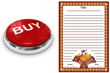 Thanksgiving Turkey Creative Writing Printable Worksheets Buy Now Button