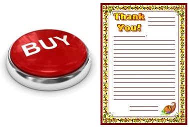 Thank You Letters Stationery and Worksheets Buy Now Button