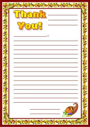 Thank You Letters Creative Writing Worksheets and Stationery Lesson Plans
