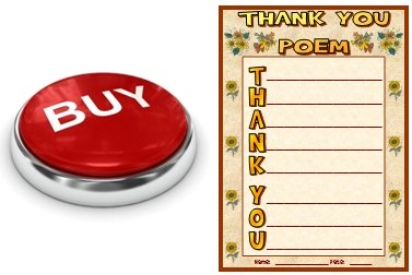 Thanksgiving Thank You Acrostic Poem Buy Now Button