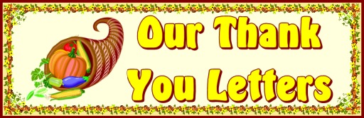 Thank You Letters For Thanksgiving Bulletin Board Display Banner