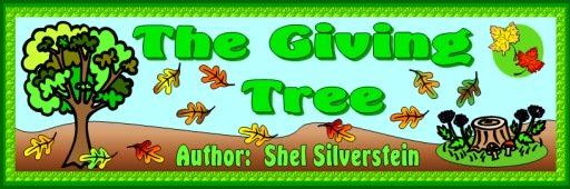 The Giving Tree Shel Silverstein Free Bulletin Board Display Banner