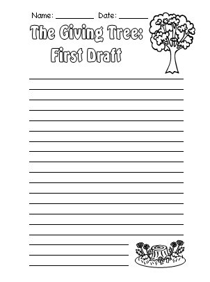 Printables The Giving Tree Worksheets the giving tree lesson plans shel silverstein first draft printable worksheets