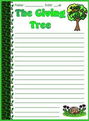 Printables The Giving Tree Worksheets the giving tree lesson plans shel silverstein fun final draft creative writing worksheets and templates silverstein