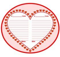 Valentine's Day Fun Creative Writing Heart Templates