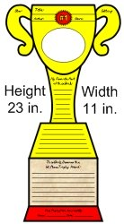 Favorite Book Report Projects Trophy Templates and Printble Worksheets Measurements