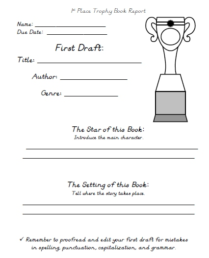 My Favorite That I Read Printable Worksheets