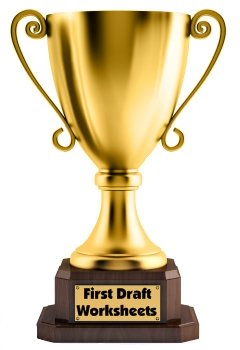 Trophy Book Report Project First Draft Printable Worksheets