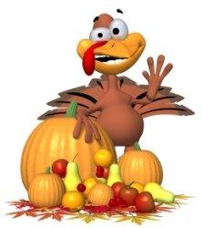 Turkey Waving Hand