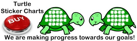 Fun Turtle Sticker Charts and Templates For Kids
