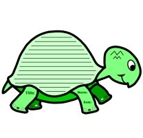 Turtle Shaped Creative Writing Templates and Worksheets