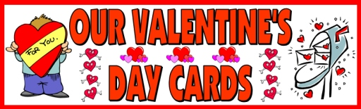 Valentine's Day Cards Elementary School Bulletin Board Display Banner