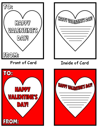 Fun Valentine's Day Card Making Activity Writing Templates