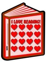 Valentine's Day We Love Reading Books Sticker Chart