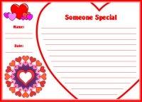 Valentine's Day Creative Writing Printable Worksheet