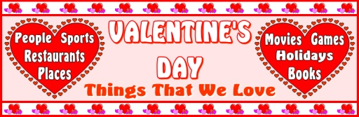 Things That We Love Valentine's Day Bulletin Board Display Banner