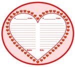 Valentine's Day Heart Templates and Worksheets