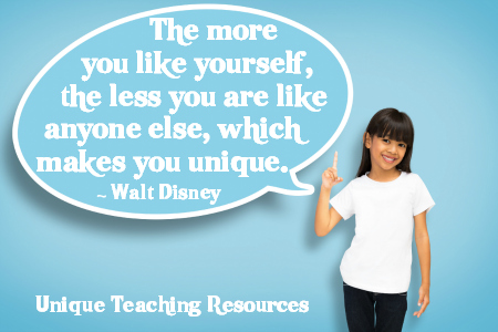 Inspiring Walt Disney Quote - The more you like yourself.