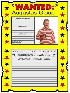 Charlie And The Chocolate Factory Lesson Plans
