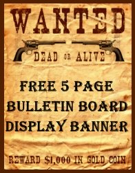Free Bulletin Board Display Banner Charlie and the Chocolate Factory Wanted Posters