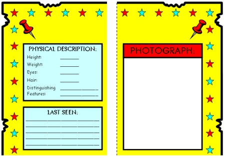 Fun Book Report Wanted Poster Templates