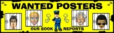 Wanted Posters Book Report Projects Bulletin Board Display Banner