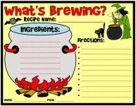 What's Brewing Halloween Worksheet Printable Worksheet