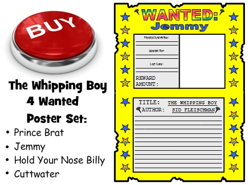 Whipping Boy Lesson Plans Wanted Poster Book Report Projects