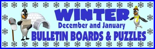 Winter Bulletin Board Displays And Sticker Charts For Christmas