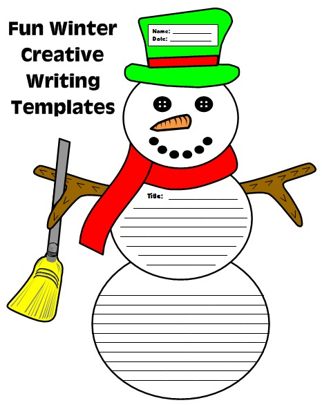 Fun Frosty the Snowman Project and Creative Story Writing Templates