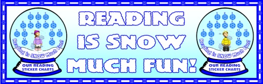 Free Winter Reading Sticker Charts Classroom Bulletin Board Display Banner For Christmas