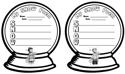 Winter Snow Globe Poetry Lesson Plans and Templates