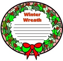 Winter Wreath Creative Writing Templates and Worksheets