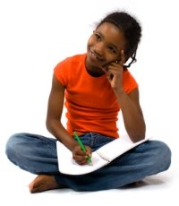 Writing Poetry Elementary Girl Student