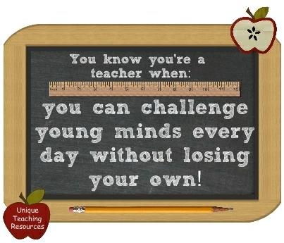 You know you're a teacher when: You can challenge young minds every day without losing your own.