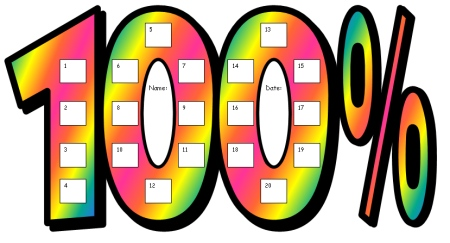 100 Percent Club Sticker Charts Fun Incentive Charts For
