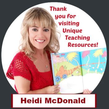 Thank you for visiting Unique Teaching Resources.  Heidi McDonald