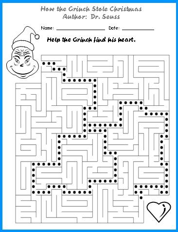 How The Grinch Stole Christmas Lesson Plans Author: Dr. Seuss