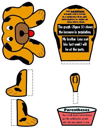 Parenthesis Punctuation Mark Bulletin Board Display Grammar Resources Set