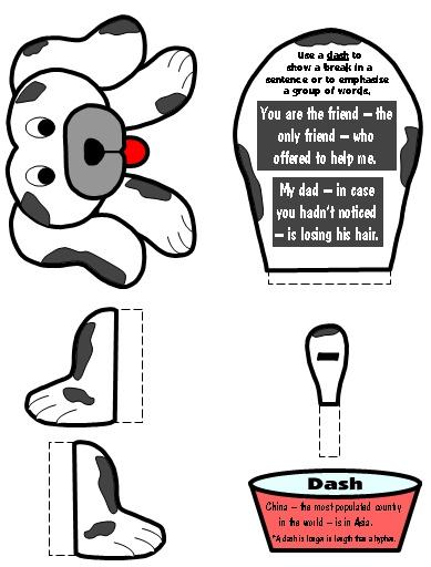 Dash Punctuation Mark Bulletin Board Display Grammar Resources Set