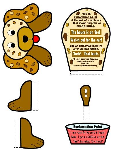 Exclamation Mark Punctuation Mark Bulletin Board Display Grammar Resources Set