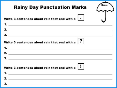 Spring Punctuation Mark Student Worksheet Power Point Lesson